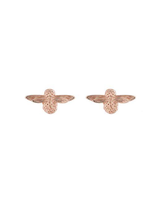 Olivia Burton - Multicolor Rose Gold Tone 3d Bee Stud Earrings - Lyst