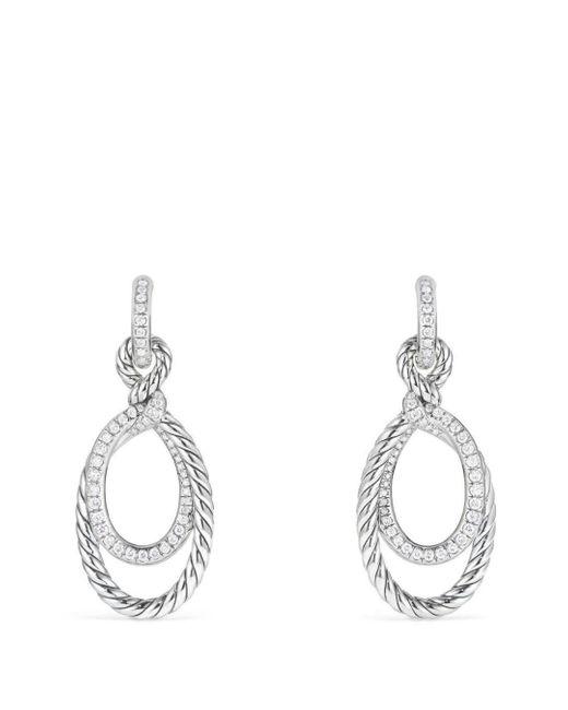 David Yurman - Metallic Continuance Drop Earrings With Diamonds - Lyst