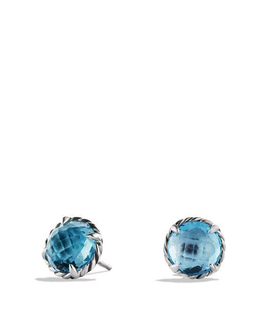 David Yurman   Châtelaine Earrings With Blue Topaz   Lyst