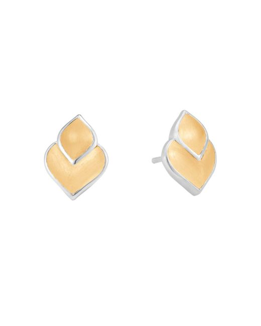 John Hardy - Metallic 18k Yellow Gold And Sterling Silver Legends Naga Stud Earrings - Lyst