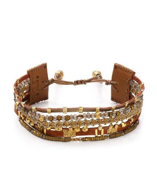 Chan Luu | Brown Adjustable Beaded Bracelet | Lyst