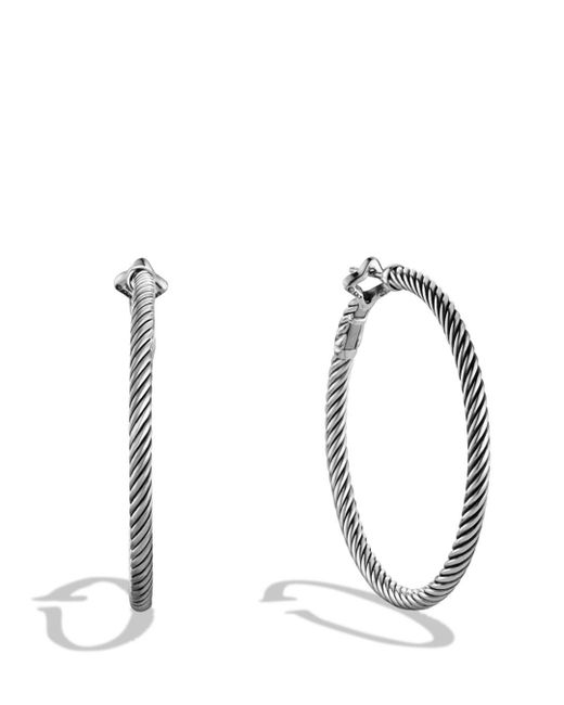 David Yurman - Metallic Cable Classics Large Hoop Earrings - Lyst
