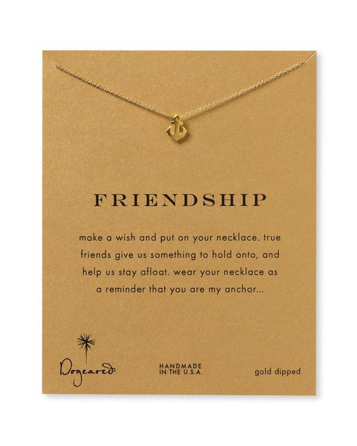 Dogeared | Metallic Friendship Anchor Necklace, 18"
