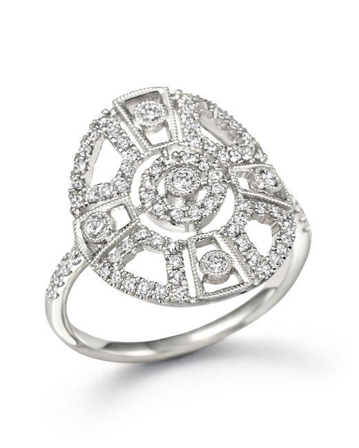 Meira T - Metallic 14k White Gold Antique Inspired Diamond Ring - Lyst