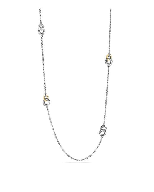 David Yurman | Metallic Belmont Four Station Necklace With 18k Gold | Lyst