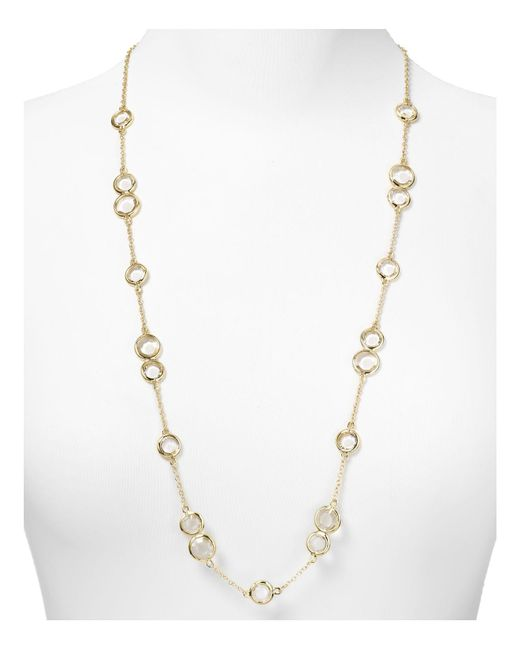 kate spade new york | Metallic Crystal Confetti Scatter Necklace, 32"