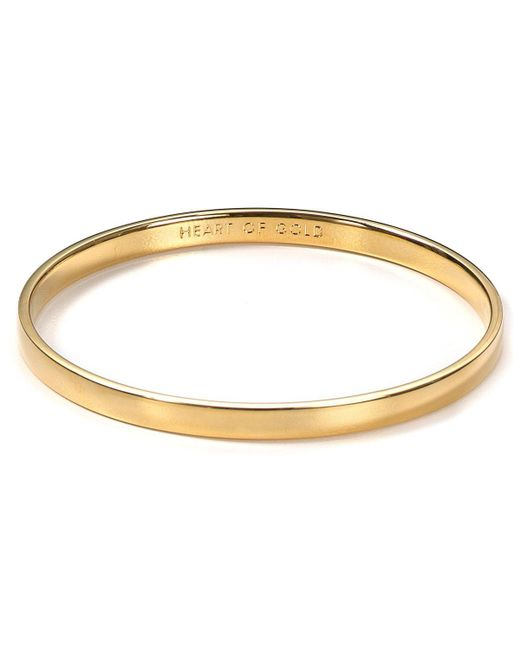 kate spade new york | Metallic Idiom Heart Of Gold Bangle | Lyst