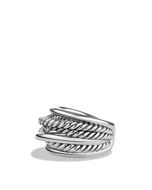 David Yurman | Metallic Crossover Narrow Ring | Lyst