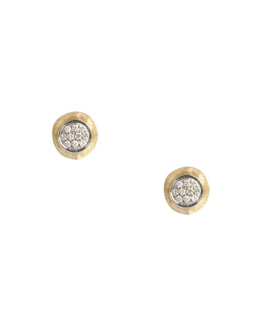 Marco Bicego | Metallic Delicati Earring In 18k Yellow Gold With Pavé Diamonds | Lyst