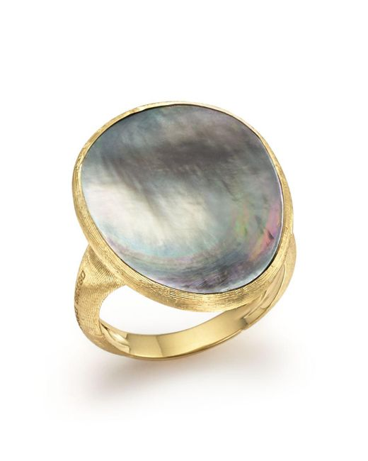 Marco Bicego - Metallic 18k Yellow Gold Lunaria Ring With Black Mother-of-pearl - Lyst