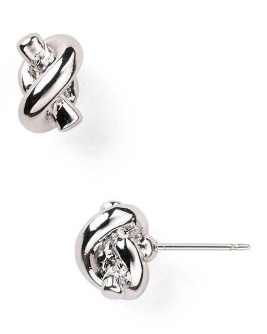 kate spade new york   Metallic Sailor's Knot Stud Earrings   Lyst