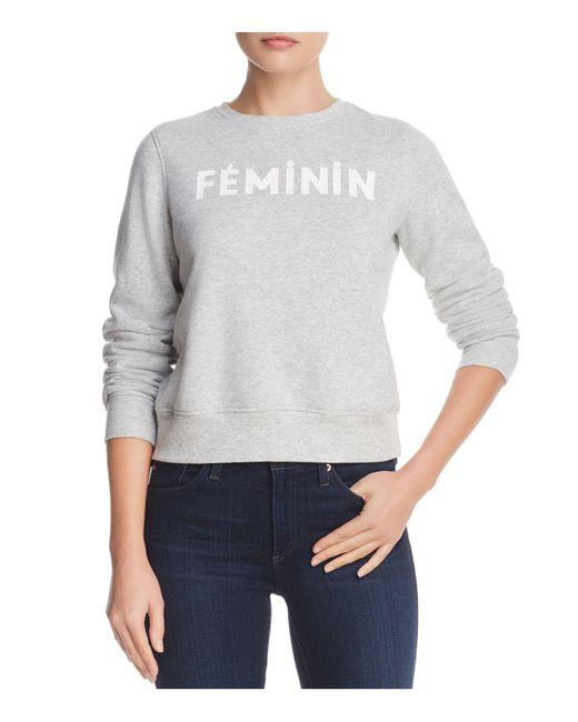 Rebecca Minkoff - Gray Feminin Graphic Sweatshirt - Lyst
