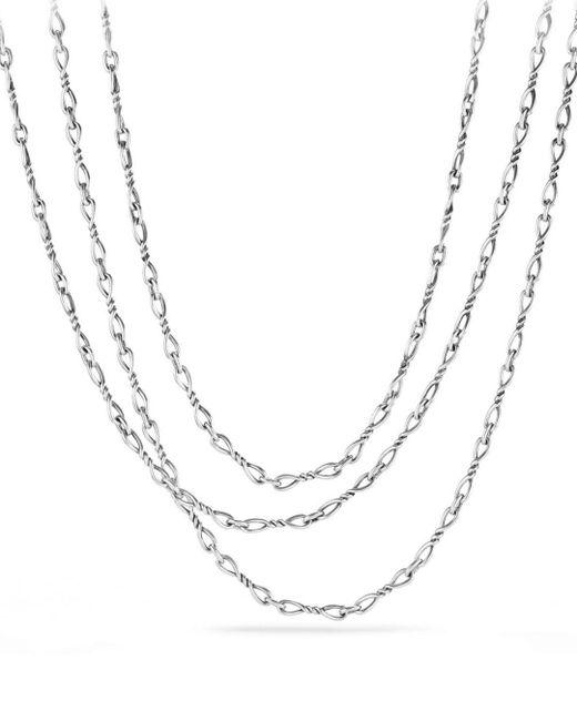 David Yurman - Metallic Continuance Chain Necklace - Lyst