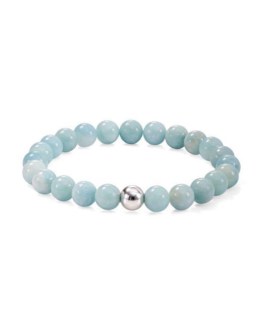 Aqua - Metallic Silver Beaded Stretch Bracelet - Lyst