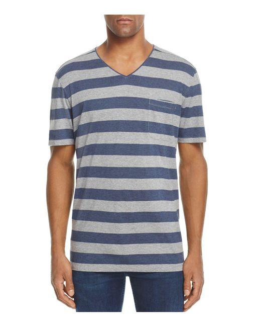 Daniel Buchler | Blue Lounge V-neck Tee for Men | Lyst