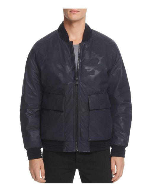 Andrew Marc | Black Lodge Camouflage Bomber Jacket for Men | Lyst