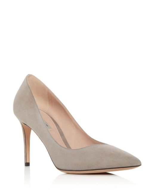 Giorgio Armani - Multicolor Women's Decollete Suede Pointed Toe Pumps - Lyst