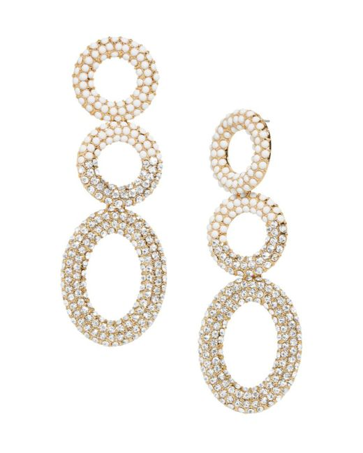 BaubleBar - White Mimi Hoop Drop Earrings - Lyst