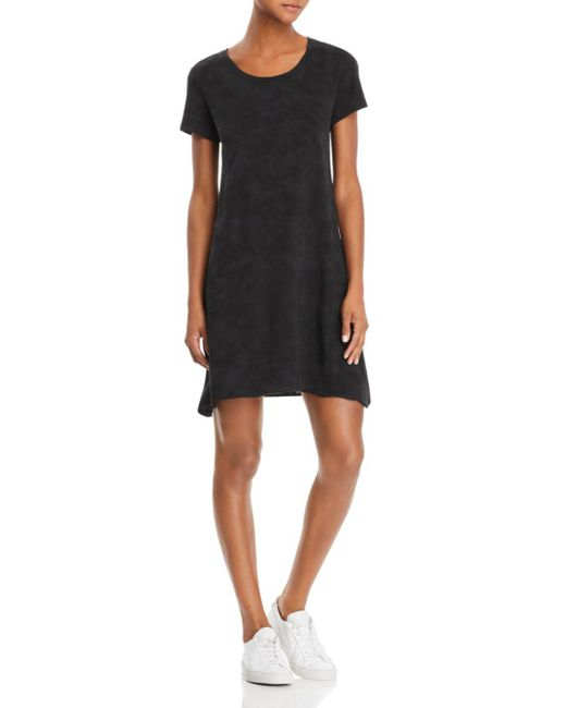 ATM - Black Tie Dyed T-shirt Dress - Lyst