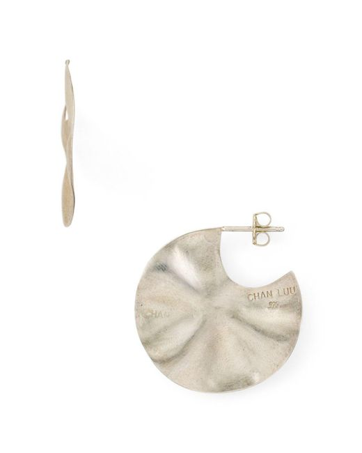 Chan Luu - Metallic Wavy Disc Drop Earrings - Lyst