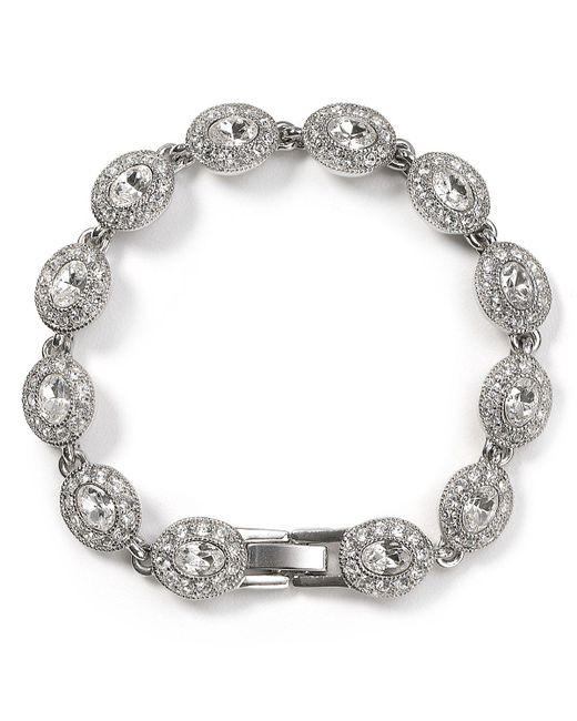 Carolee | Metallic Topaz Oval Stone Flex Bracelet | Lyst
