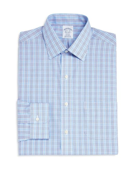 Brooks Brothers | Blue Double Check Classic Fit Dress Shirt for Men | Lyst