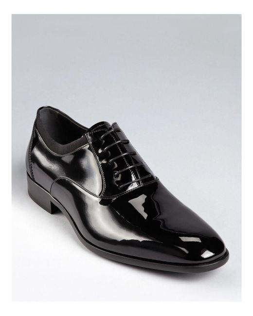 Ferragamo | Black Aiden Tuxedo Oxfords for Men | Lyst