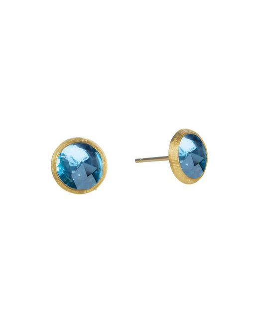 Marco Bicego   Jaipur Blue Topaz Stud Earrings   Lyst
