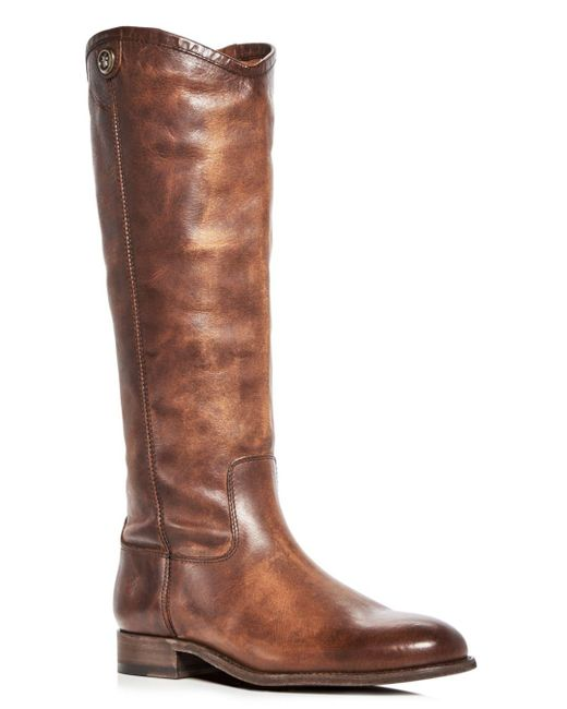 Frye - Brown Women's Melissa Button 2 Leather Tall Boots - Lyst