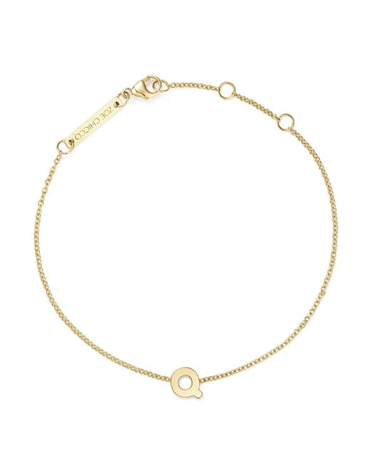 Zoe Chicco   Multicolor 14k Yellow Gold Initial Bracelet   Lyst