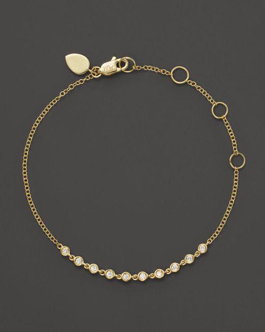 Meira T - Metallic 14k Yellow Gold Diamond Bezel Bracelet - Lyst