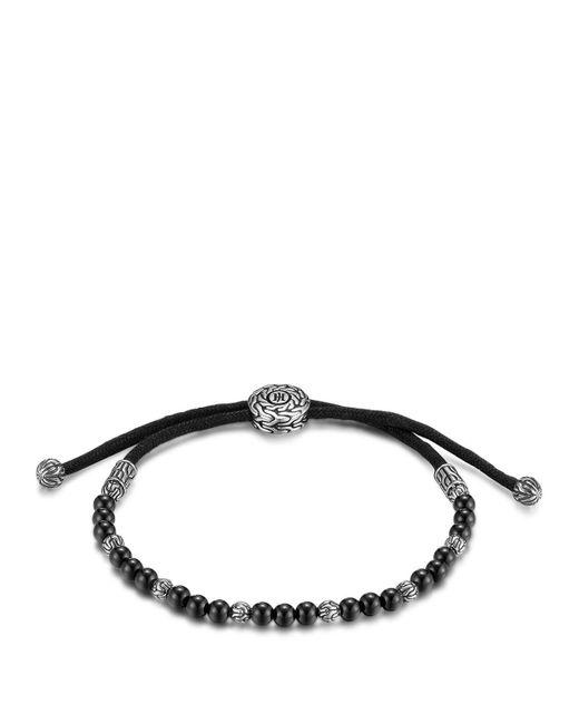 John Hardy   Men's Sterling Silver Classic Chain Beaded Bracelet With Black Onyx for Men   Lyst