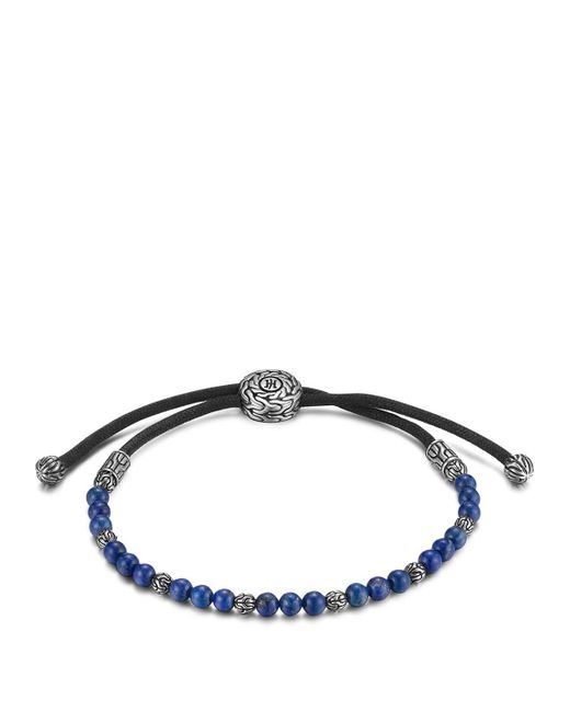 John Hardy | Blue Men's Sterling Silver Classic Chain Beaded Bracelet With Lapis Lazuli for Men | Lyst