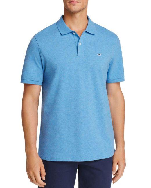 Vineyard Vines - Blue Stretch Pique Classic Fit Polo for Men - Lyst