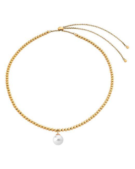 "Majorica - Metallic Majorca Simulated Pearl Drop Necklace, 16"" - Lyst"