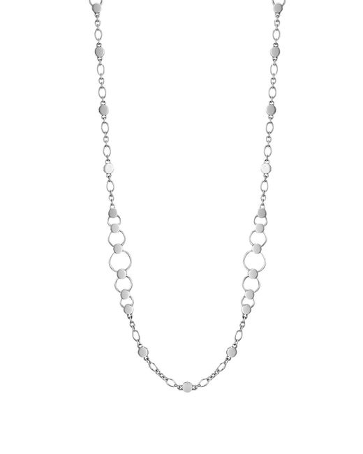 John Hardy | Metallic Dot Silver Small Link Sautoir Necklace, 36"