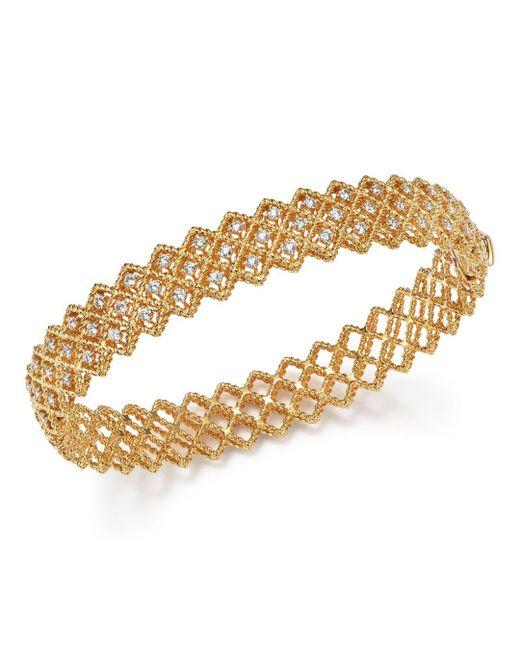 Roberto Coin - Metallic 18k Yellow Gold New Barocco Diamond Bangle - Lyst