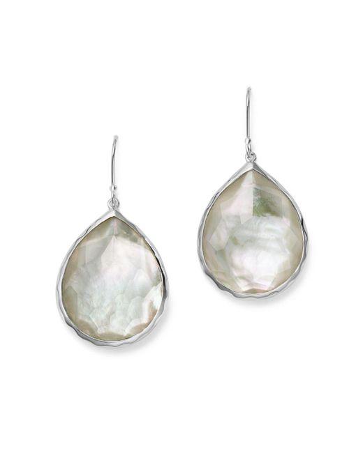 Ippolita - Metallic Sterling Silver Wonderland Teardrop In Mother-of-pearl Earrings - Lyst