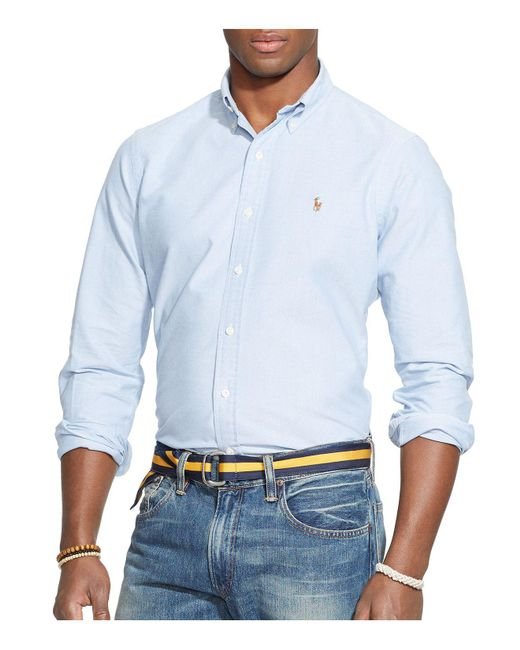Polo Ralph Lauren | Blue Oxford Button-down Shirt - Classic Fit for Men | Lyst