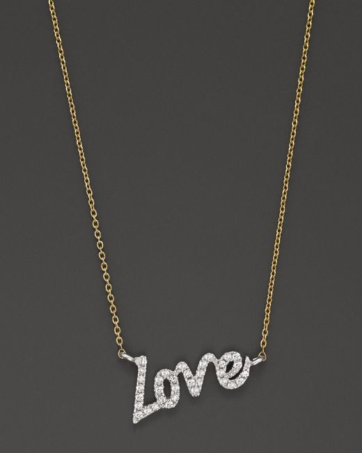 Meira T | Metallic Diamond Love Necklace, .11 Ct. T.w. | Lyst