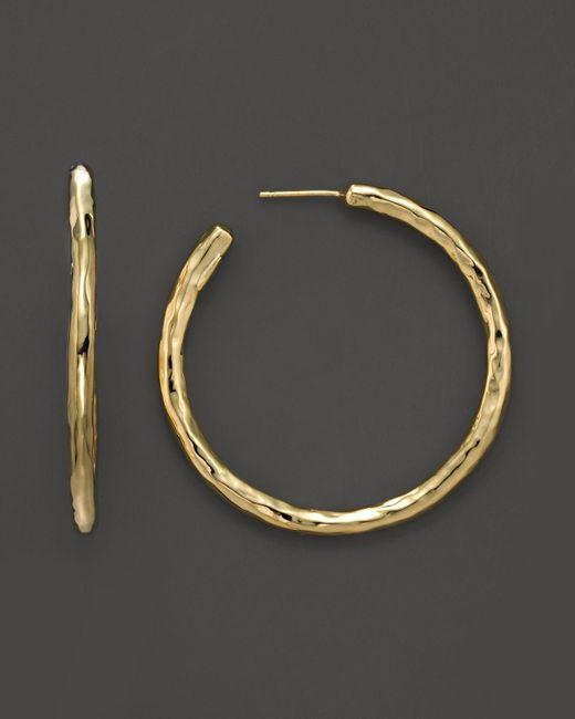 Ippolita | Metallic 18k Yellow Gold Glamazon #3 Faceted Hoop Earrings | Lyst