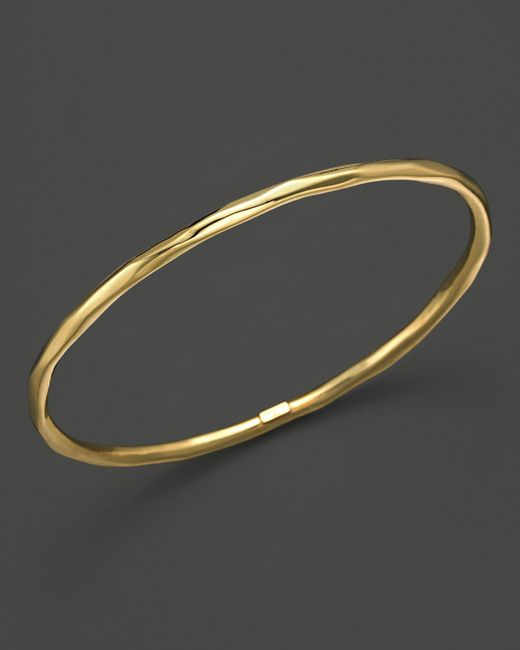 Ippolita | Metallic 18k Gold Glamazon Thin Faceted Bangle | Lyst