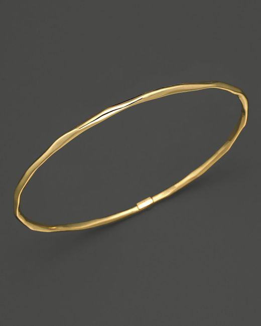 Ippolita | Metallic 18k Gold Glamazon Thin Bangle | Lyst