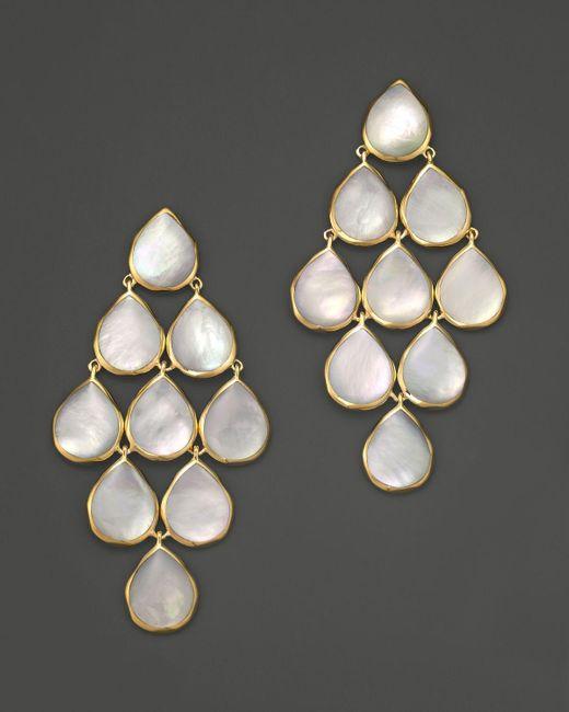 Ippolita   Metallic 18k Polished Rock Candy Cascade Earrings In Mother-of-pearl   Lyst