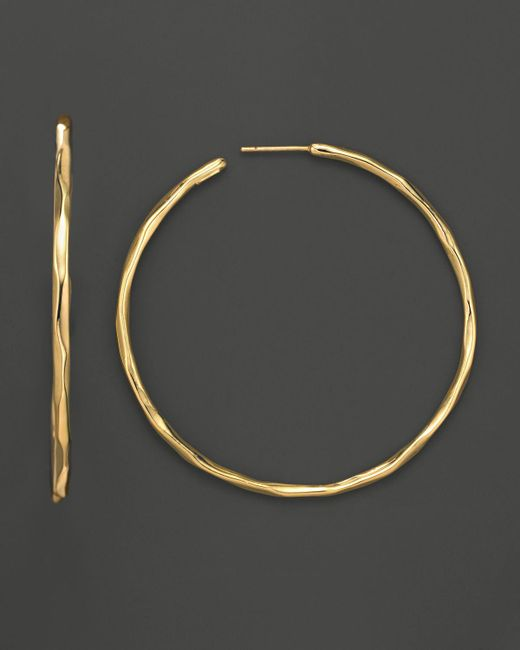 Ippolita | Metallic 18k Gold #4 Glamazon Faceted Hoops | Lyst