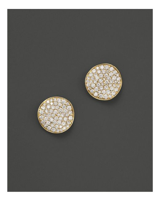 Ippolita | Metallic 18k Gold Stardust Mini Studs With Diamonds | Lyst