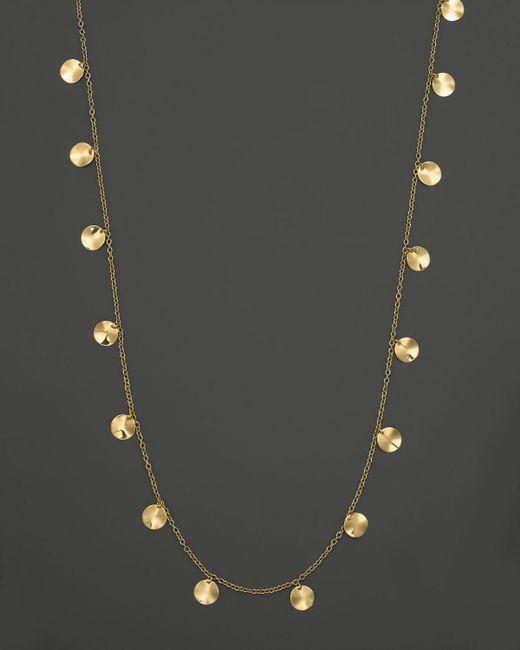 "Ippolita   Metallic 18k Yellow Gold Paillette Necklace, 33""   Lyst"