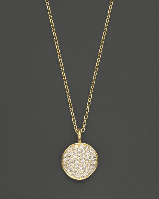 Ippolita | Metallic 18k Yellow Gold Stardust Flower Pendant Necklace With Diamonds, 18"