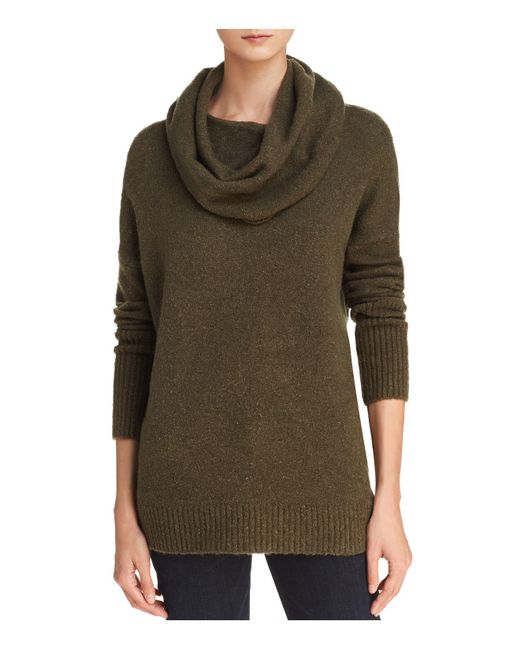 French Connection | Green Weekend Cowl Neck Ribbed-trim Sweater | Lyst