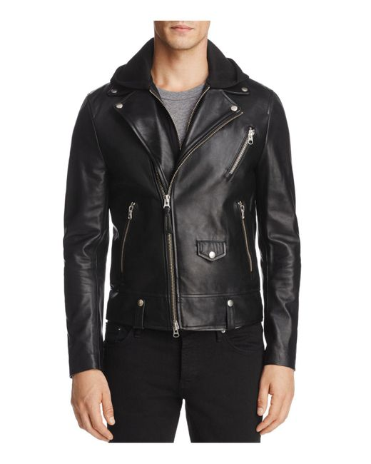 Mackage | Black Magnus Hooded Leather Motorcycle Jacket for Men | Lyst